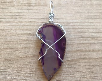 Purple Dyed Agate