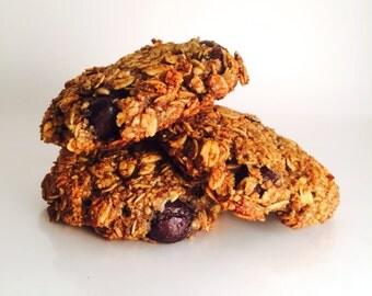 Vegan Banana Blueberry Cookies, Gluten Free, Refined Sugar Free, Breakfast