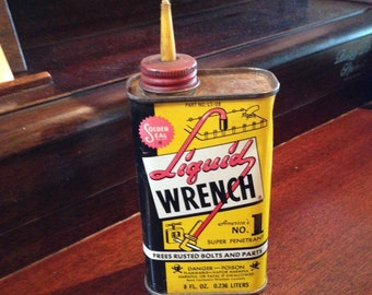 Vintage Liquid Wrench Can advertising