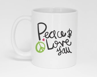 Peace & Love Y'all Mug (With Gift Box)