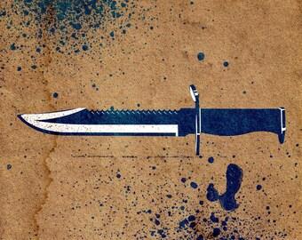 Knife Stencil