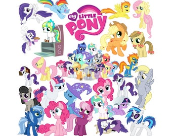 My little pony 100 images clipart