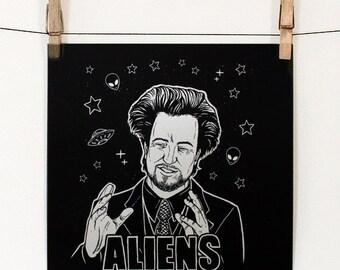 Giorgio Tsoukalos Ancient Aliens Art Print