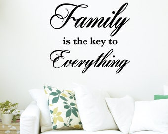 Family Is Key To Everything Home Wall Decal Sticker VC0037