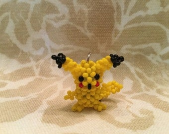 Beaded Pikachu doll pendant