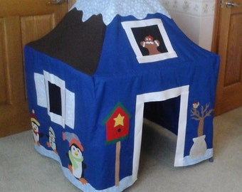 Winter Wonderland Card Table Playhouse