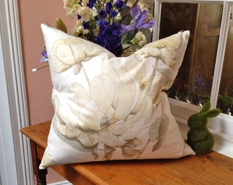 """Swaffer fabric """"Peonies""""  large cushion cover."""