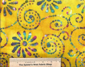 Quilters Batiks - LEMON BURST Batik  -  100% Cotton - Quilt Shop Quality Fabric - QB-134