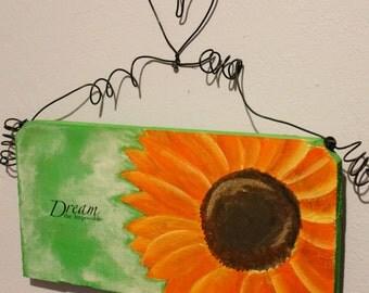 Dream Sunflower Wall or Door hanging