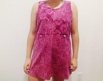Vintage Small Pink Mini Women's Dress