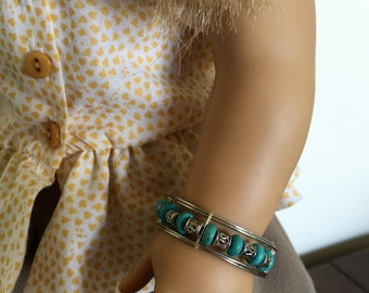 Southwestern with turquoise jewelry fits American girl dolls