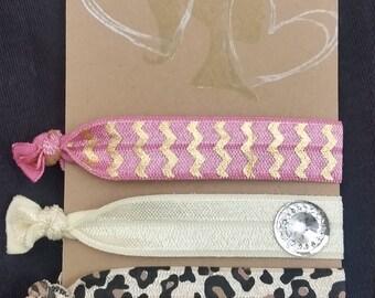 Stylish Hair Ties, Cheetah set