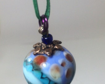 Bead Necklace Jewelry Lampwork bead and handblown glass