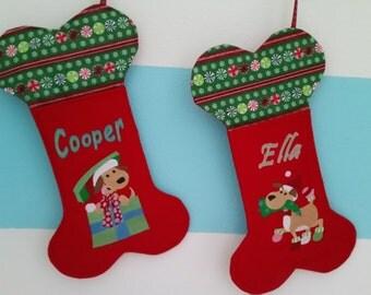 """Christmas Personalized """"Dog"""" Stocking"""