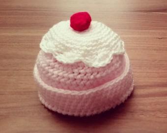cupcake baby beanie
