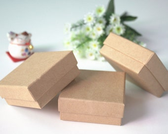 30PS  7*7*3CM Retail Kraft Box Jewel Wedding Gift Boxes Candy Soap Packaging Paper Boxes