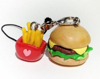 Hamburger and Fries Strap
