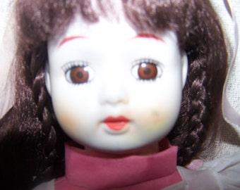 Vintage Porcelain Handmade Doll