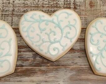 Heart Shaped Wedding Cookies (1 dozen)
