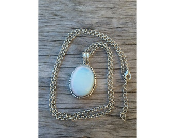 Opalite crystal layering necklace