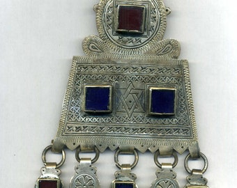 Morocco Judaica pendant Tagmoute,  Central Anti-Atlas