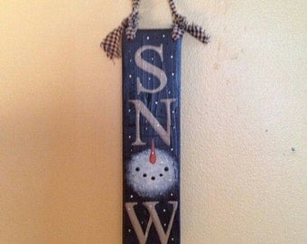 SNOW Barnwood Sign