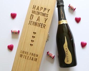 Valentine's Day Wooden Wine Box