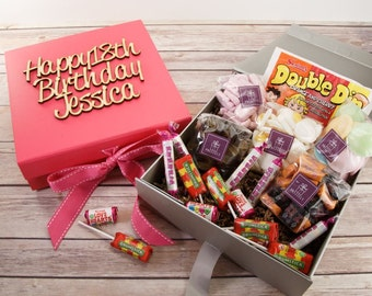 Retro Sweets filled gift box