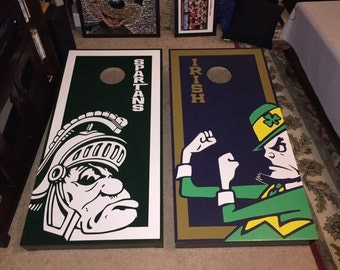 Custom Corn Hole Set with Bags (more detailed)