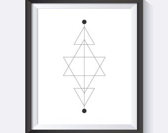 Geometric Print, Triangle Art, Geometric Wall Art, Line Art, Geometric, Minimalist,  Digital Print Wall Art, PDF
