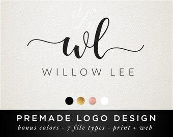 Monogram Logo Design - Modern Calligraphy Font - Calligraphy Logo - Swash Font - Signature Logo - Minimal Logo - Monogram Font - Initials 42