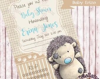 Invitation Baby Hedgehog