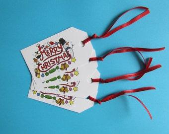 Christmas Gift Tags set of 4