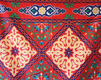 Fabric Handwork Egyptian Decoration Home ornament decor neddle craft supply cotton red