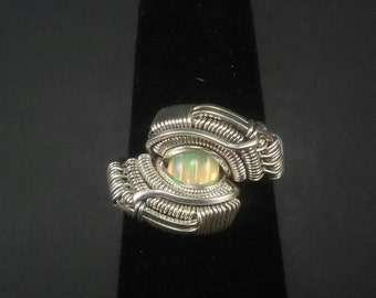 Size 5 Ethiopian Opal CouchLocke Ring