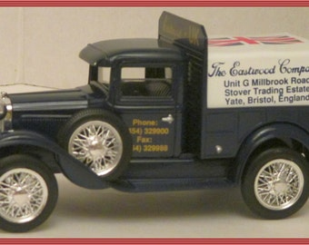1931 Ford Pickup Truck Bank-Eastwood Co. -U.K.--LIMITED  EDITION--Die Cast Metal  Bank--Made in 1992-In Original Box