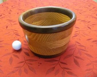 Oak/black walnut wooden bowl