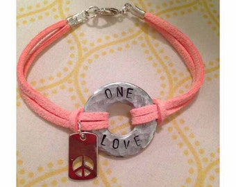 Hand stamped, personalized bracelets