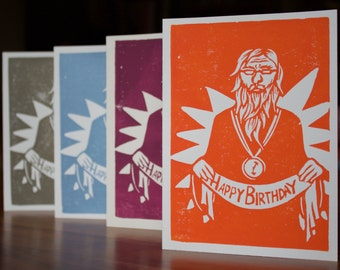 Birthday Card: Father Time