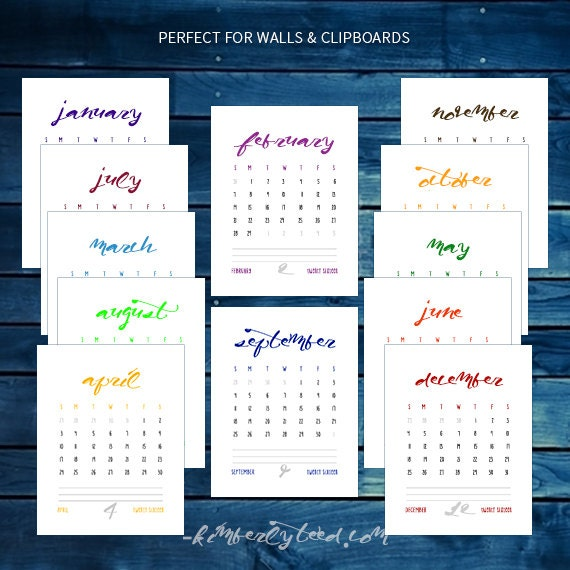 May 2016 to May 2017 - Printable Monthly Calendars - Download, Print ...