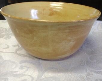 Large Yellow Ceramic Bowl