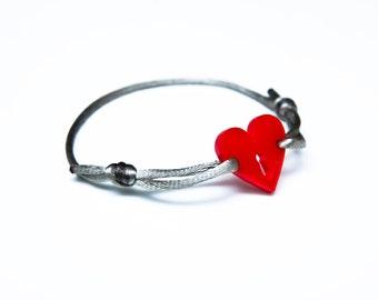 Heart Bracelet, Charm Jewelery , Lasercut Acrylic