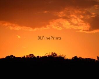sunset photography, color summer sunset, home decor, fine art photo,relaxing serene photo