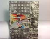 """Original notebook. Analog collage """"There is no limit"""". Hand cut collage notebook cover"""