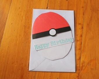 Pokeball Birthday Card