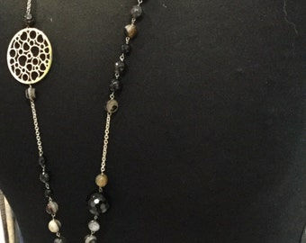 Necklaces made of natural stones