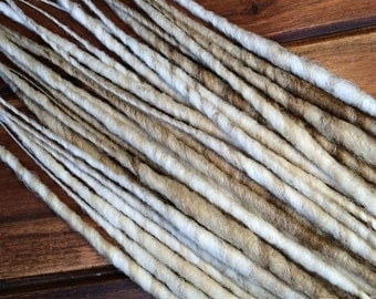 Synthetic Dreads - White and Blonde Mix SE - SET OF 4