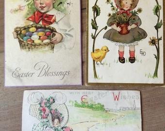 Vintage Easter Postcards- Set of 3