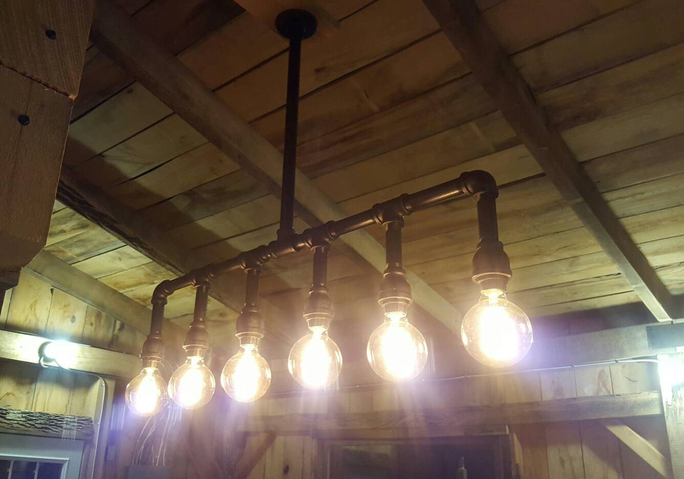 Industrial lighting rustic kitchen island ceiling light - Industrial lighting fixtures for kitchen ...
