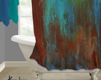 Ombre shower curtain | Etsy